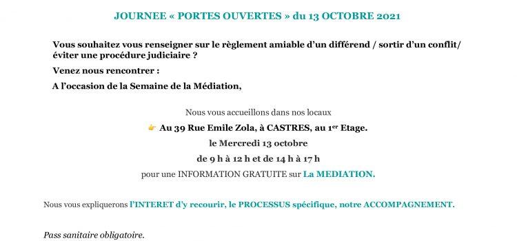 JOURNEE PORTES OUVERTES OC MEDIATION DU 13 OCTOBRE 2021